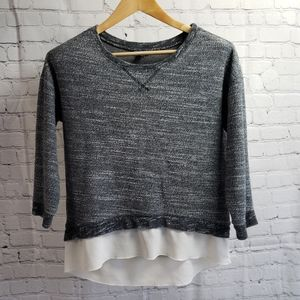 American Eagle Gray Oversized Sweatshirt Y2K 00s